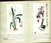Livre - Calendrier Chinois Illustré - Dépliant - En Chinois Et Anglais - Chine - Livres, BD, Revues