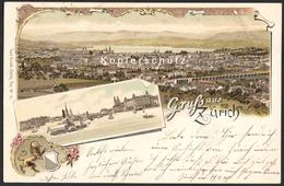 CH - Gruss Aus Zürich - Vorläufer Litho Carl Künzli - Gel. 1899 - ZH Zürich