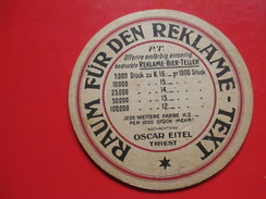 Old Advertisement Coaster,Bier,Beer, Oscar Eitel - Triest - Beer Mats