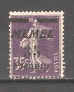 Memel 1922, 35pf On 35c, Sc 58, MNG - Memel (1920-1924)