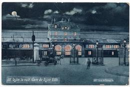 Dijon : Gare De Dijon-Ville (série Dijon, La Nuit, N°32 - Edition De La Ménagère) - Dijon