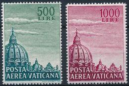 Vaticano 1958. Correo Aereo. Cupula Basilica San Pedro. 34 / 35. MNH. **. - Vaticano (Ciudad Del)