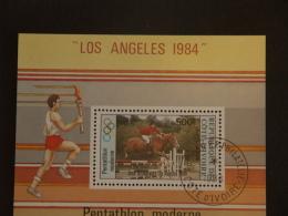 Ivoorkust Côte-d'Ivoire 1984 Jeux Olympiques Los Angeles équitation Paardesportl Yv Bloc 26 O - Ivoorkust (1960-...)