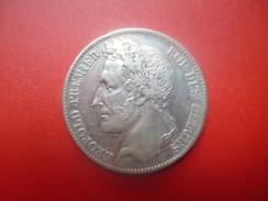 Léopold 1er. 5 FRANCS 1848 ARGENT   QUALITE : VOIR PHOTOS - 11. 5 Francs