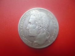 Léopold 1er. 5 FRANCS 1849 ARGENT   QUALITE : VOIR PHOTOS - 1831-1865: Léopold I