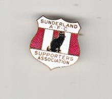 SUNDERLAND - SUNDERLAND AFC SUPPORTERS ASSOCIAITION BLACK CAT BADGE - SUPERB  CONDITION - Football