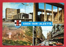 Esch-sur-Alzette. Gare Centrale. Monument Du Souvenir. Usines Sidérurgiques. Rue De L'Alzette. Blason 1980 - Esch-sur-Alzette