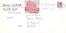 £25 SU STAMPE HOTEL LUXOR MILANO MARITTIMA - 6. 1946-.. Republic