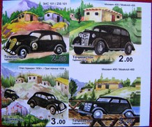 Tajikistan  2015    Cars  4v   Imperfor. MNH - Tajikistan