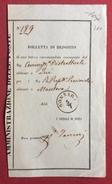 LOMBARDO VENETO GONZAGA  SU  RICEVUTA DI UNA LETTERA RACCOMANDATA I - 1. ...-1850 Prefilatelia