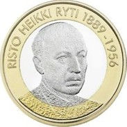 Finland     2017     5 Euro Munt  Risto Heikki Ryti 1889 - 1956  (Presidenten Serie)  UNC - Finlandia