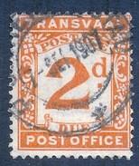 Transvaal Postage Due 1907. 2d Brown-orange. SG D3, SACC 3. - Transvaal (1870-1909)