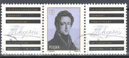 Poland 1975 F. Chopin - F Mi 2408 + Zf - Used - 1944-.... Republiek