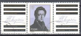 Poland 1975 F. Chopin - F Mi 2408 + Zf - Used - 1944-.... República