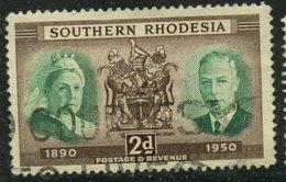 Southern Rhodesia 1950 2p Queen Victoria Issue #73  Used - Rhodésie Du Sud (...-1964)