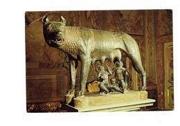 Cpm - Lupa Capitolina - La Louve Capitoline Ou Louve Du Capitole Sculpture Bronze - Louve Allaite Enfants Bébés - Sculptures