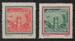 CHINE DU NORD-EST 1950 - Timbres N°144 & N°145 (Réimpressions Officielles) - Neufs - Chine Du Nord-Est 1946-48