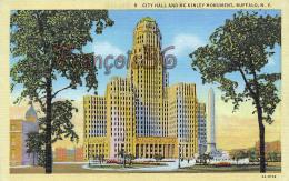 City Hall And MC Kinley McKinley Monument - Buffalo - N. Y. NY - Buffalo