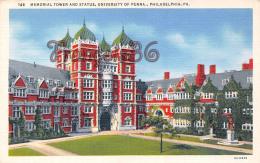 Memorial Tower And Statue - University Of Pennsylvania Penna - Philadelphia - PA - Philadelphia
