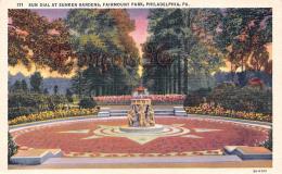 Sun Dial At Sunken Gardens - Fairmount Park - Philadelphia - PA Pennsylvania - Philadelphia