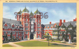 Memorial Tower And Statue - University Of Penna - Philadelphia - PA Pennsylvania - Philadelphia