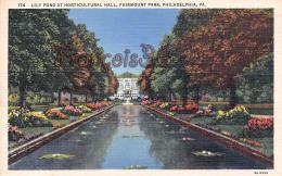 Lily Pond At Horticultural Hall - Fairmont Park - Philadelphia - PA Pennsylvania - Philadelphia