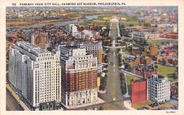 Parkway From City Hall Showing Art Museum- Philadelphia  - PA Pennsylvania - Philadelphia