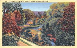 View On Lincoln Drive - Fairmount Park - Philadelphia  - PA Pennsylvania - Philadelphia
