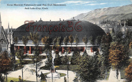 Great Mormon Tabernacle And Sea Gull Monument - Salt Lake City - UT Utah - Salt Lake City