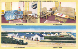 Ocean Manor - St Saint Augustine Beach - Florida FL - Bedroom Living Room Ocean Bathing Fishing Pier - St Augustine