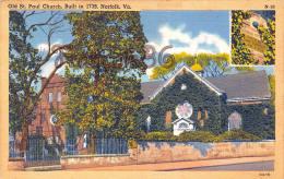 Old St Saint Paul Church Built In 1739 - Norfolk VA Virginia - Norfolk