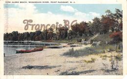 View Along Beach - Manasquan River - Point Pleasant - NJ New Jersey - Etats-Unis