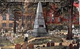 Old Granary Burying Ground - Boston - Mass MA Massachusetts - Boston