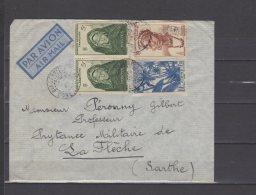 AOF  - N° 32 , 34 Et 37 X2 Obli/sur Lettre Voyagée Pour La France -  26 / 01 / 1949 - A.O.F. (1934-1959)