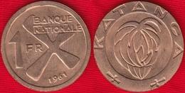 Katanga 1 Franc 1961 Km#1 - Katanga