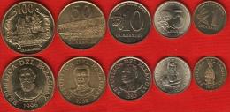 Paraguay Set Of 5 Coins: 1 - 100 Guaraníes 1990-1998 UNC - Paraguay