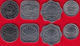 Bangladesh Set Of 4 Coins: 1 - 25 Poisha 1974-1994 UNC - Bangladesh