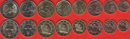 Cyprus Euro Full Set (8 Coins): 1 Cent - 2 Euro 2016 UNC - Chypre