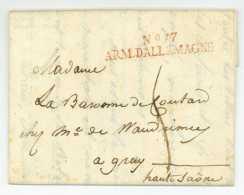 No. 17 ARMEE D'ALLEMAGNE - KEMPTEN 1809 - Général COUTARD (1769-1852) - Gray Napoleon Davout Regensburg Bregenz Lindau - Marques D'armée (avant 1900)