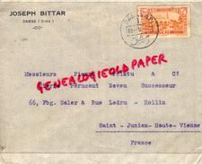SYRIE - DAMAS- ENVELOPPE JOSEPH BITTAR- 1932- A PIERRE POINTU E PIERRE PERUCAUD  MEGISSERIE SAINT JUNIEN- GANTERIE - Invoices & Commercial Documents
