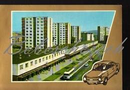 7-477 CZECHOSLOVAKIA  1970 Mlada Boleslav Jung - Bunzlau  Main Street Skoda 110 R Bus Skoda RTO  Public Housing Compl - Ansichtskarten