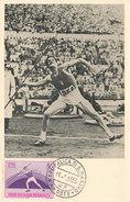 D29470 CARTE MAXIMUM CARD 1955 SAN MARINO - JAVELIN ATHLETICS CP ORIGINAL - Athletics