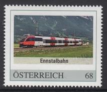 ÖSTERREICH 2016 ** Ennstalbahn / Steiermark, Salzburg, Eisenbahn, Train - PM Personalized Stamp MNH - Private Stamps