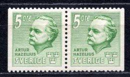 1941 SWEDEN 5Ö. A. I. HAZELIUS MICHEL: 286DD PAIR MNH ** - Ongebruikt