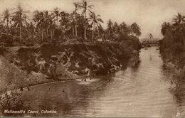 Wellawatta Canal Colombo  CEYLON SRI LANKA Tuck´s Post Card - Sri Lanka (Ceilán)