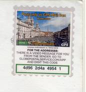 Carte Postale De ROMA Avec Timbre Poste Privée GPS Mail Box - 2011-...: Usati