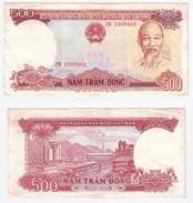 Viet Nam Nord - 500 Dong 1988 Hanoi North Vietnam Ho Chi Minh - Vietnam