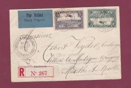 AVIATION - 230317 -  LUXEMBOURG - Lettre Recommandée Premier Courrier Aéropostale DIECKIRCH BRUXELLES 1933 - Airplanes