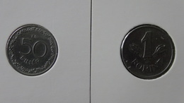 Hungary - 1950,1953 - 50 Filler+1 Forint - KM 551,545 - VF/F - Look Scans - Ungarn