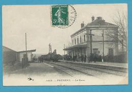 CPA 1423 - Chemin De Fer Arrivée D'un Train En Gare De PREMERY 58 - France